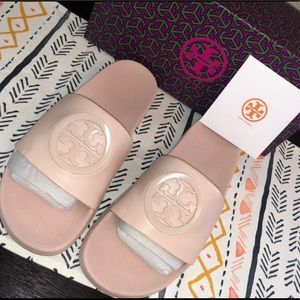 NWT Tory Burch Leather Slide Sandals 5